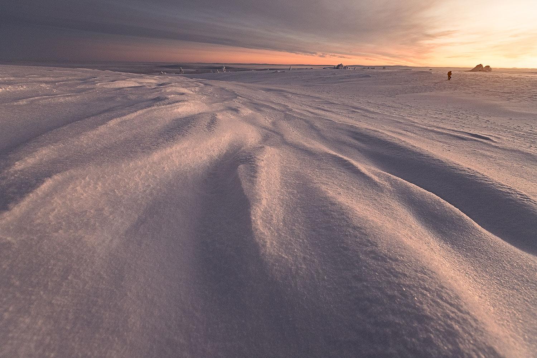 paysage coucher de soleil laponie